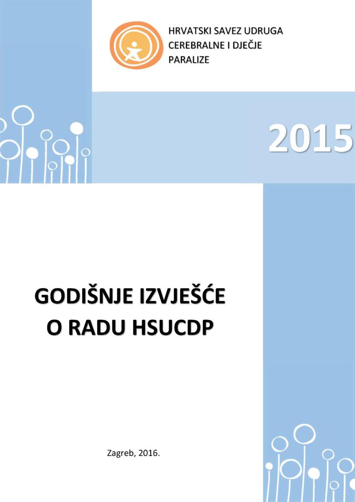 Godišnje izvješće o radu HSUCDP