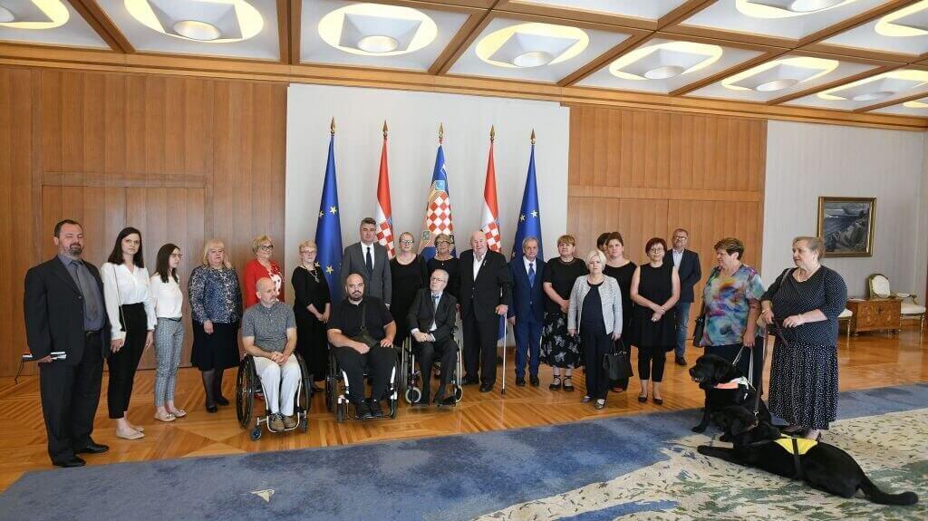 Predsjednik Milanović razgovarao s izaslanstvom Zajednice saveza osoba s invaliditetom Hrvatske