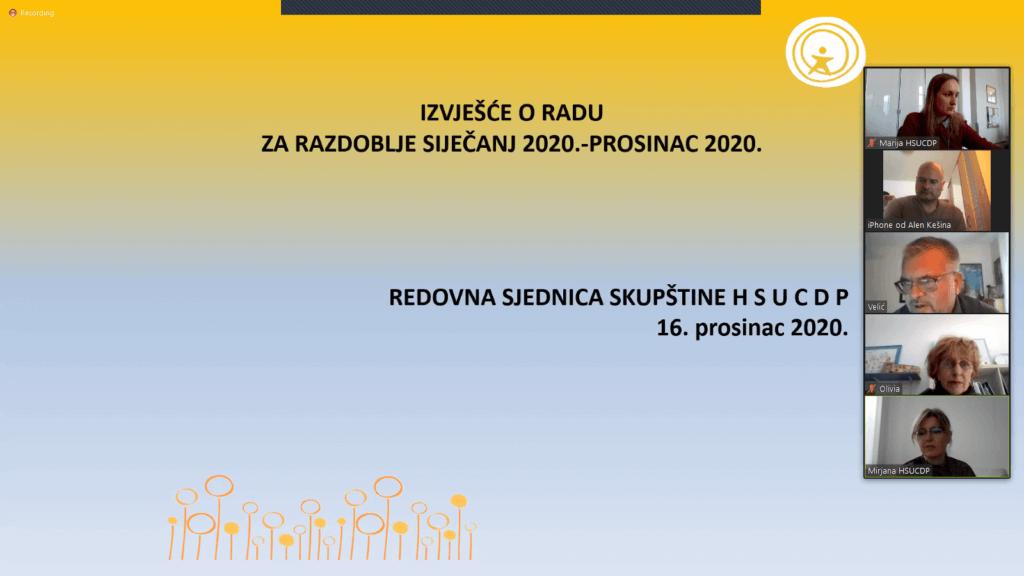 Naslovna slika - Redovna sjednica Skupštine HSUCDP, 16.12.2020.